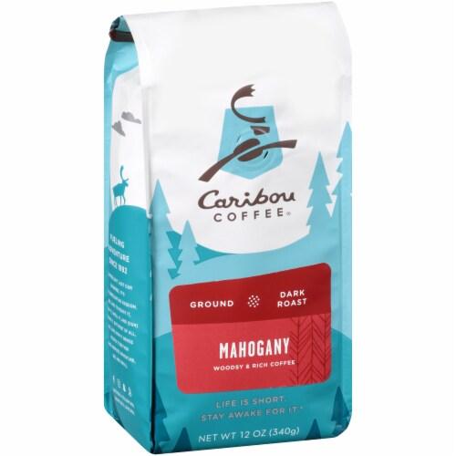 Caribou Coffee Mahogany Dark Roast Ground Coffee Perspective: left