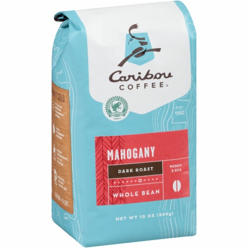 Caribou Coffee Mahogany Dark Roast Whole Bean Coffee Perspective: left
