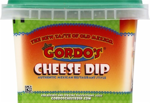 Gordo's Mild Mexican Resturant Style Cheese Dip Perspective: left