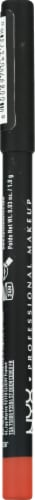 NYX Professional Makeup Suede SMLL05 Orange County Matte Lip Liner Perspective: left