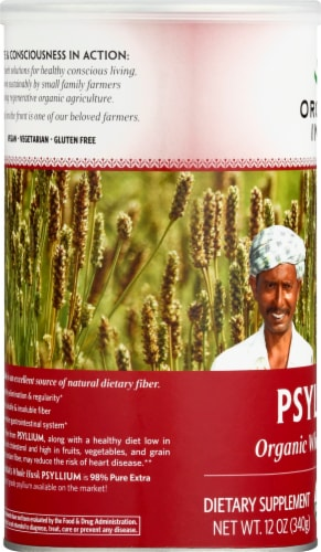 Organic India Whole Husk Psyllium Perspective: left