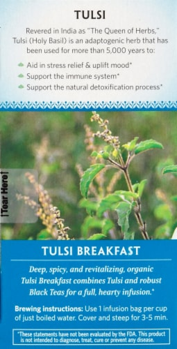 Organic India Tulsi Breakfast Tea Perspective: left