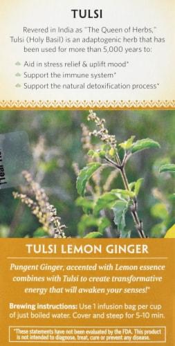 Organic India Lemon Ginger Tulsi Tea Perspective: left