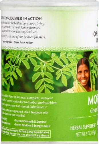 Organic India Moringa Organic Leaf Powder Herbal Supplement Perspective: left