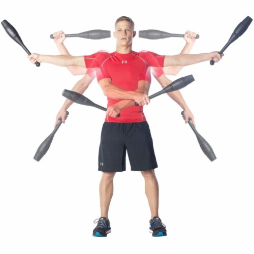 Ultimate Body Press IC-2 Strength Training Exercise Power Clubs, 2 Pound Pair Perspective: left