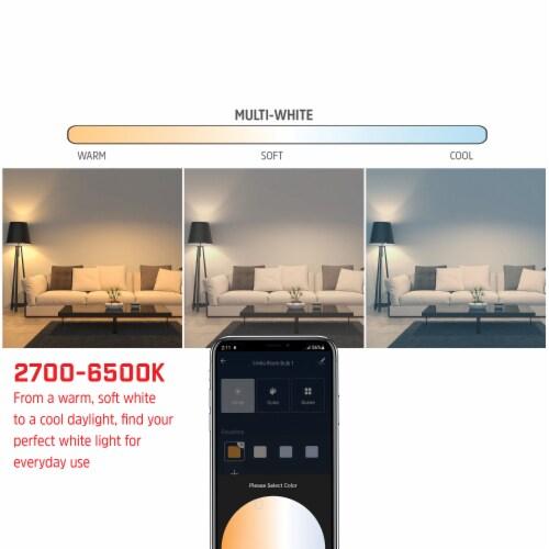 800-Lumen Smart Wi-Fi Bright Multiwhite LED Bulbs, 2 Pack Perspective: left