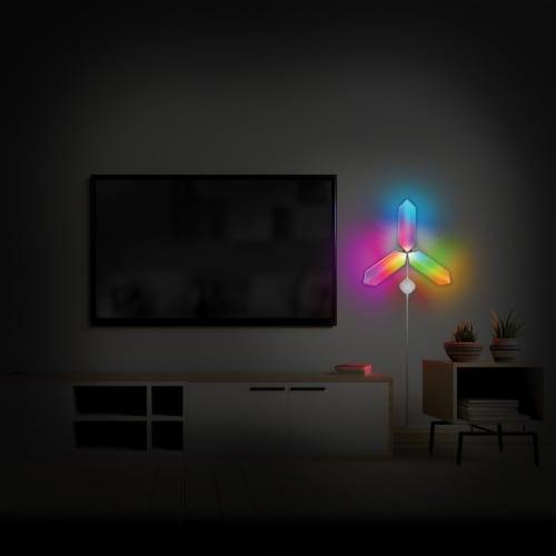 Monster MLB7-1039-RGB Smart Digit Modular 3D LED Art Panels Add-on Pack Perspective: left
