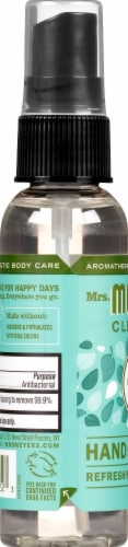 Mrs. Meyer's Clean Day Basil Scented Hand Sanitizer Perspective: left
