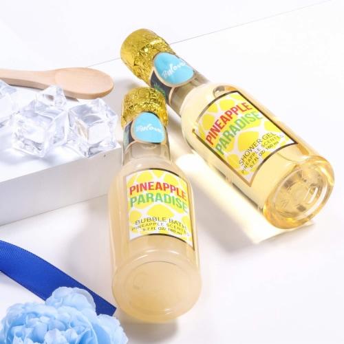 Pineapple Scent Spa Sets with Bubble Bath/Shower Gel/Soap, Bath Gift Set Perspective: left