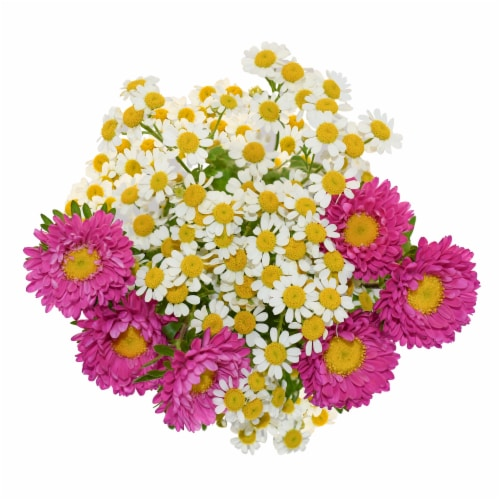 Galleria Farms Daisy Chamomile Filler Flower Bouquet Perspective: left