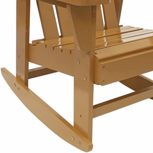 Sunnydaze Adirondack Rocking Chair Classic Wood Outdoor Furniture - Cedar Finish Perspective: left