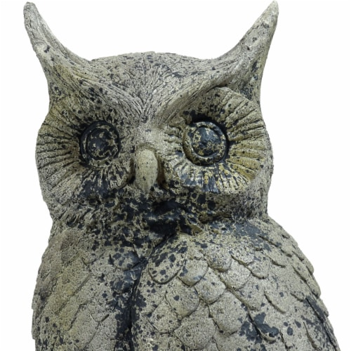"""Sunnydaze Outdoor Garden Statue Great Horned Owl Patio and Lawn Decor - 14"""" Perspective: left"""