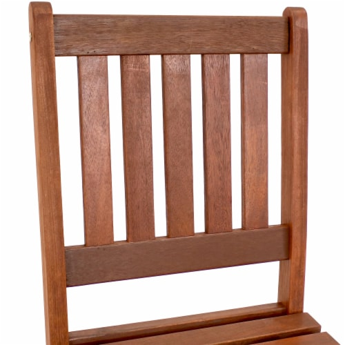 Sunnydaze Meranti Wood Bar Height Chairs - Set of 2 Perspective: left
