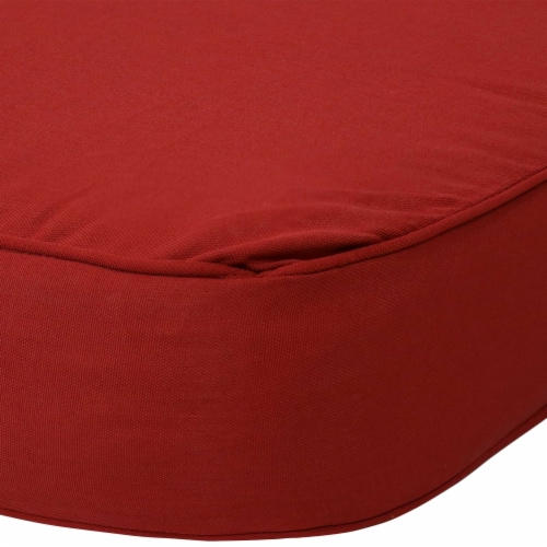 Sunnydaze Back and Seat Cushion Set for Outdoor Deep Seating - Red Perspective: left