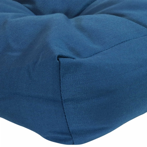 Sunnydaze Set of 2 Tufted Outdoor Seat Cushions - Blue Perspective: left