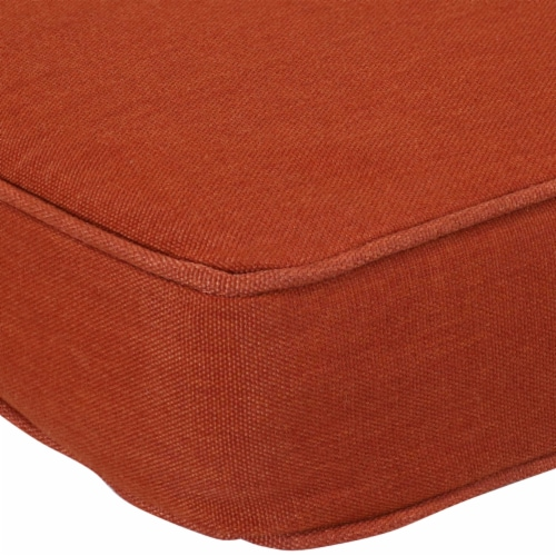 Sunnydaze Outdoor Cushion for Bench or Porch Swing - 41-Inch x 18-Inch - Rust Perspective: left