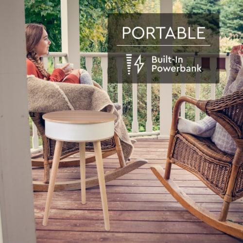 Wireless Round Speaker Table Perspective: left