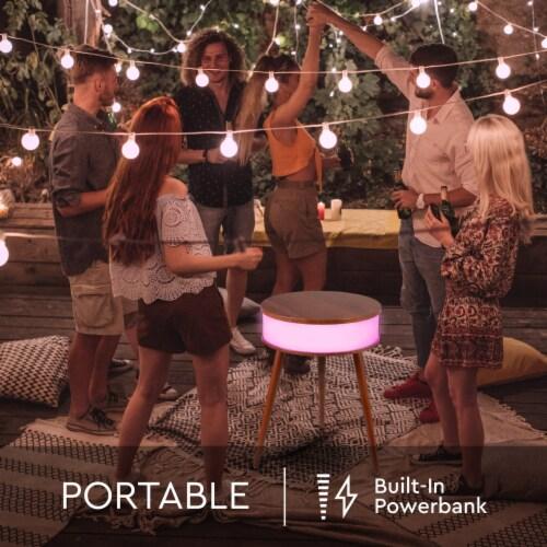 Wireless Light-up Led Speaker Table Perspective: left
