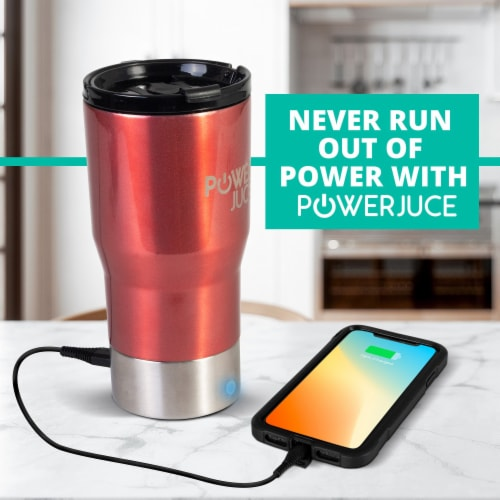 Portable Tumbler With Power Bank Perspective: left