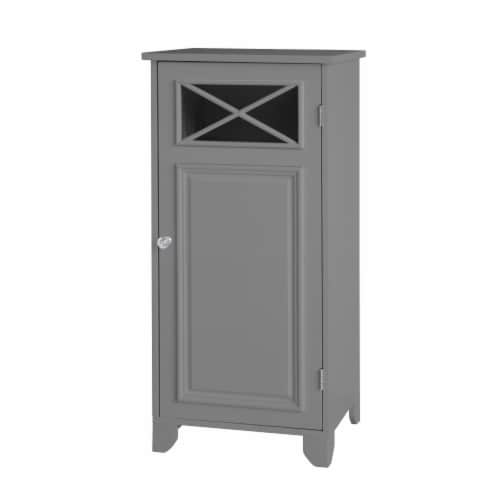 Elegant Home Fashions Bathroom Floor Cabinet With One Door Grey Dawson EHF-6834G Perspective: left