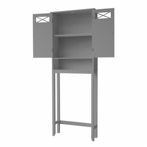 Elegant Home Fashions Wooden Over Toilet Cabinet Adjustable Shelves EHF-6803G Perspective: left