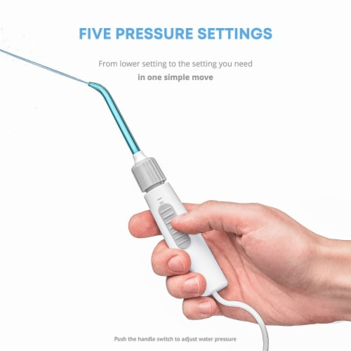 Pure Daily Care Aqua Flosser Pro with 12 Attachments Perspective: left