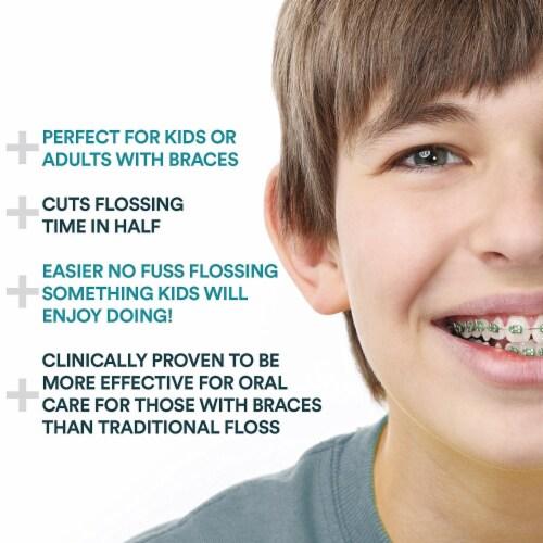 Aqua Flosser - Professional Rechargeable Oral Irrigator & 4 dental tools Perspective: left