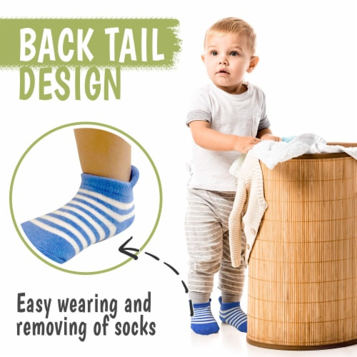 12-Pack Baby Socks (12-36 months) Perspective: left