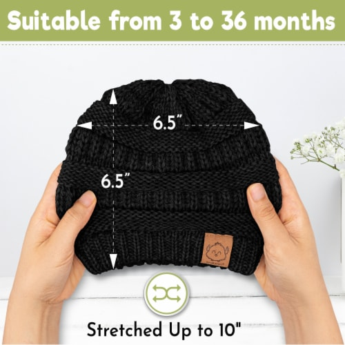 3-Pack Warmzy Baby Beanies (Urban) Perspective: left