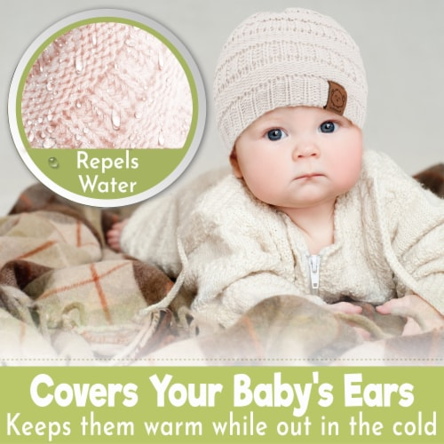 3-Pack Warmzy Baby Beanies (Sweet Pea) Perspective: left