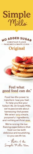 Simple Mills Organic Chestnut Flour Pancake & Waffle Mix Perspective: left