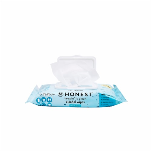 Honest Keepin' It Clean Alcohol Wipes Perspective: left