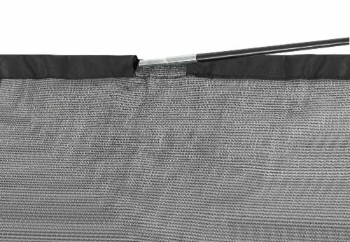 Trampoline Safety Enclosure Set of Net, 6 Curved Poles & Hardware, Fits 14 FT. Round Frame Perspective: left