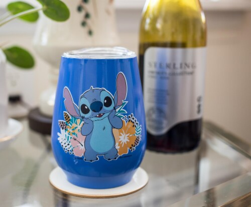 Disney Lilo & Stitch 10oz Stainless Steel Tumbler w/ Lid Perspective: left