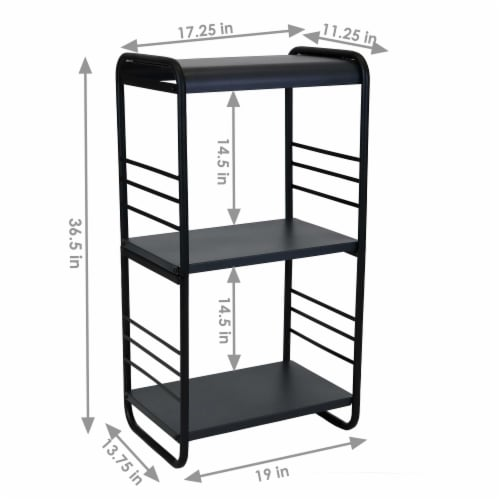 Sunnydaze Modern Rounded Edge Iron and Steel Log Rack - 36-Inch Perspective: left