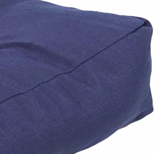 Sunnydaze Tufted Olefin 3-Piece Indoor/Outdoor Settee Cushion Set - Blue Perspective: left
