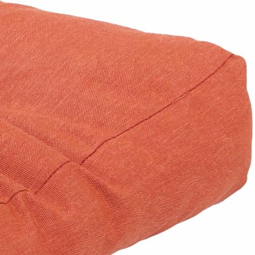 Sunnydaze Tufted Olefin 3-Piece Indoor/Outdoor Settee Cushion Set - Burnt Orange Perspective: left
