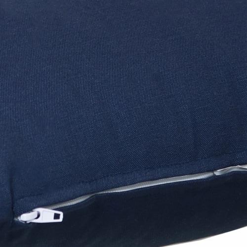 Sunnydaze 2 Outdoor Decorative Throw Pillows - 17 x 17-Inch - Navy Perspective: left