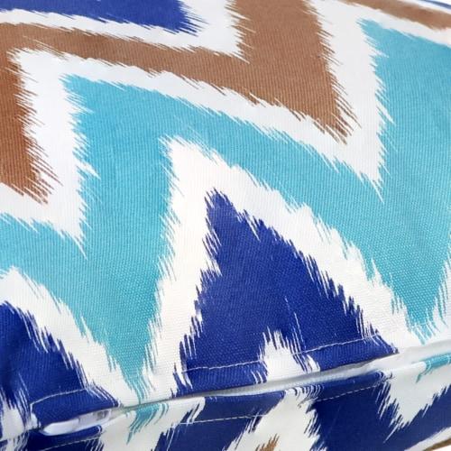 Sunnydaze 2 Outdoor Decorative Throw Pillows - 17 x 17-Inch - Chevron Bliss Perspective: left