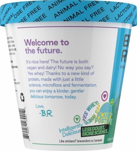 Brave Robot Vanilla Animal-Free Ice Cream Perspective: left