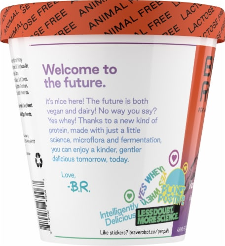 Brave Robot Vanilla 'N Cookies Animal-Free Ice Cream Perspective: left