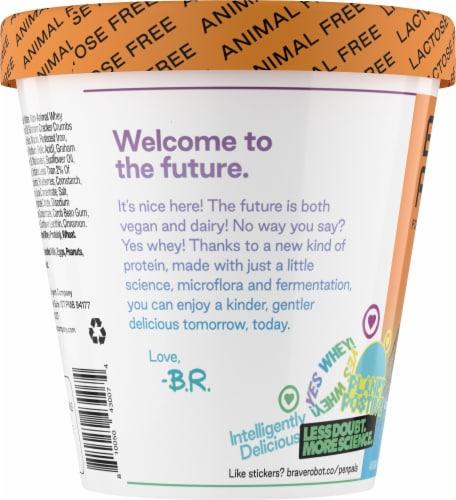 Brave Robot Blueberry Pie Animal-Free Ice Cream Perspective: left