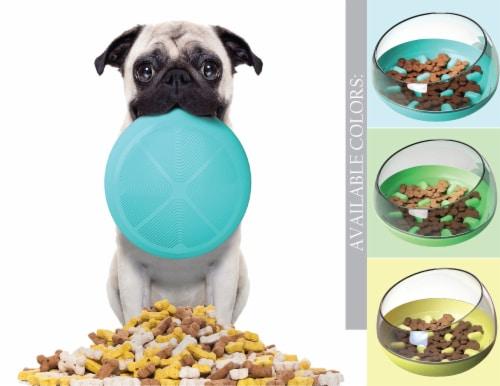 Pet Life 'Tumbowl' Slow Feeding Pet Bowl, Yellow Perspective: left
