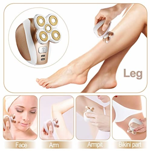 PAINLESS HAIR REMOVER TRIMMER WOMAN MEN TRAVEL COMPACT PORTABLE COMPACT WATER PROOF Perspective: left