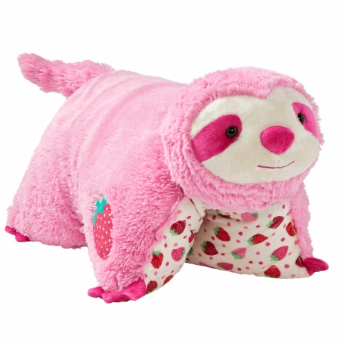 Pillow Pets Sweet Strawberry Scented Sloth Plush Toy Perspective: left