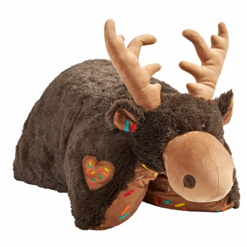 Pillow Pets Sweet Chocolate Scented Moose Plush Toy Perspective: left
