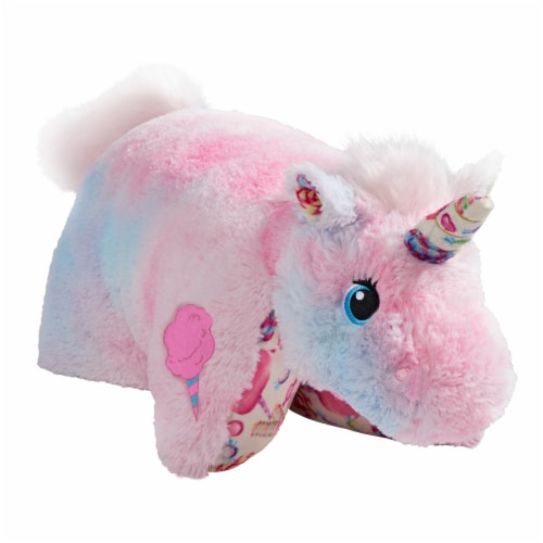 Pillow Pets Sweet Cotton Candy Scented Unicorn Plush Toy Perspective: left