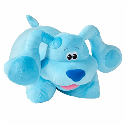 Pillow Pets Jumboz Nickelodeon Blue's Clues Blue Plush Toy Perspective: left