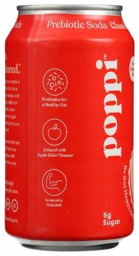 poppi Classic Cola Prebiotic Soda Perspective: left