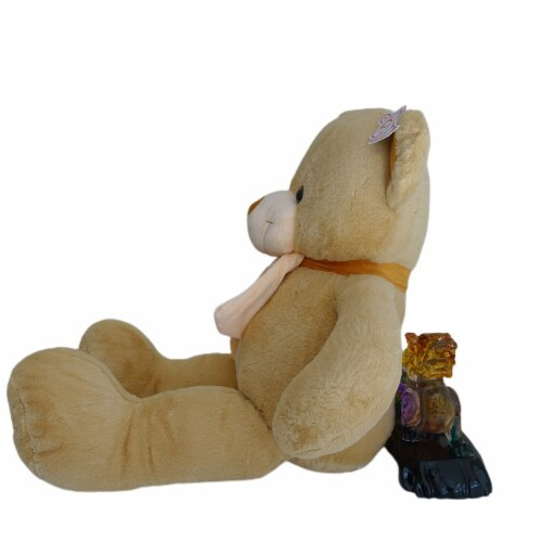 Teddy Bear   Scarf Bowtie Stuffed Animal   Swiss Jasmine® Plushies   32 Inches, Brown Perspective: left